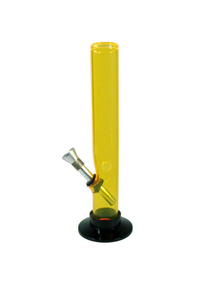 Bong Acryl (gerade) 20cm ⌀30mm Gelb - Kickloch