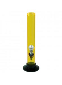 Bong Acryl (gerade) 20cm ⌀30mm -  Gelb