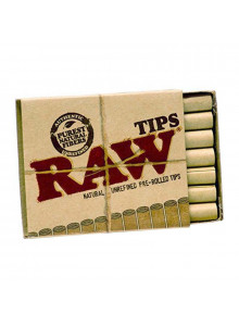 RAW Pre-Rolled Filter Tips - 21 Tips pro Packung