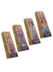 Lion Rolling Circus Unbleached Filter - 4 Designs (gemischt)
