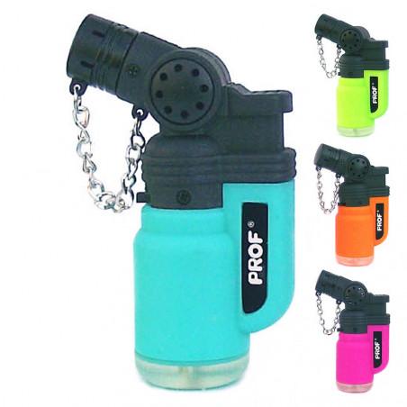 PROF Rubber Jet Lighter (schräge Flamme) - Blau