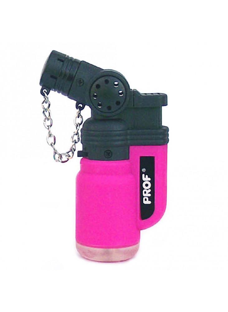 PROF Rubber Jet Lighter (schräge Flamme) - Pink