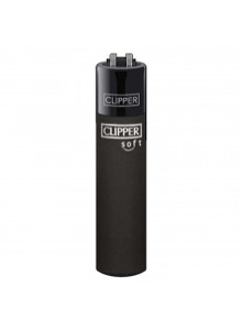 Clipper Soft Touch All Black - Feuerzeug