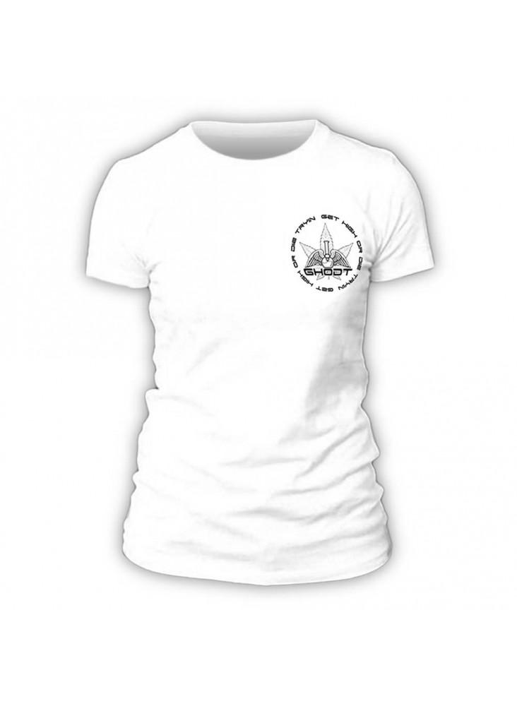 GHODT T-Shirt logo - white - Female (S-XXL) - front view
