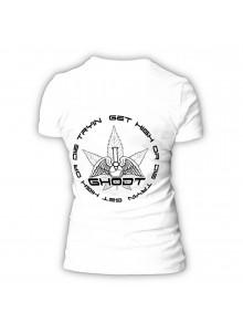 GHODT T-Shirt logo - white - Female (S-XXL) - back side