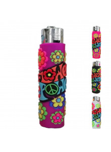 Atomic PVC Flower Power lighter - purple