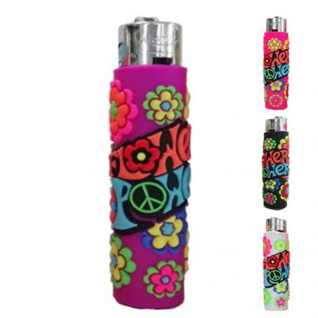 Atomic PVC Flower Power lighter - purple