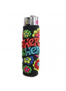 Atomic PVC Flower Power lighter - black