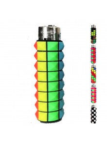 Atomic PVC Colored Cubes lighter - colorful straight