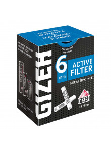 GIZEH activated charcoal filters (34pcs Box)