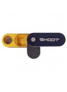 GHODT Aluminium Pfeife mit Stash - Schwarz - Draufsicht