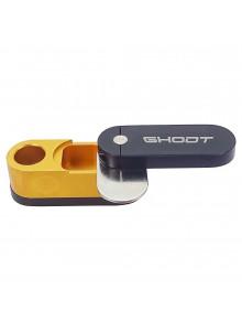 GHODT Aluminium Pfeife mit Stash - Schwarz - Stash geöffnet