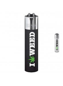Clipper I love Weed - Schwarz