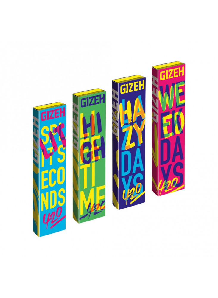 GIZEH King Size Slim + Tips 420 Edition - Four different designs