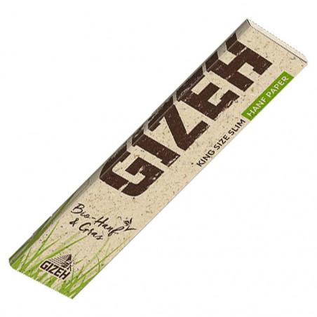 GIZEH Hemp + Grass King Size Slim - 34 papers
