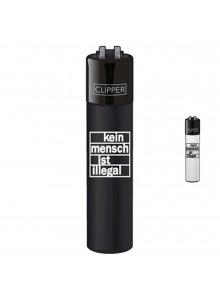 Clipper Kein Mensch ist illegal - Schwarz