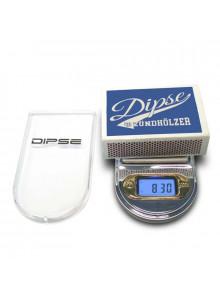 DIPSE Taschenwaage LS Serie - Größenvergleich mit Streichholzschachtel