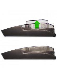 DIPSE Feinwaage FB-20 - Seitenansicht - Das Innenmaß vom Klappdeckel kann durch ein bewegliches Element vergrößert werden.