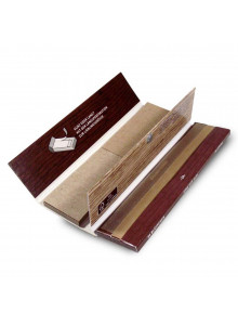 Gizeh Brown Paper King Size Slim + Tips Booklet mit Magnetverschluss