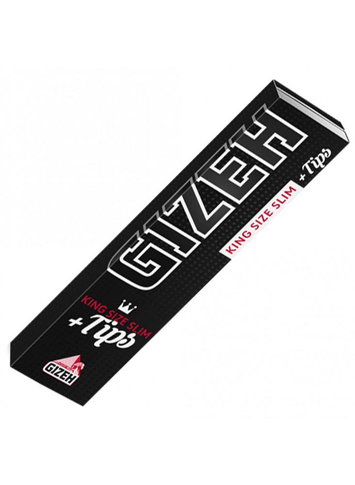 GIZEH Black King Size Slim + Tips - Heftchen