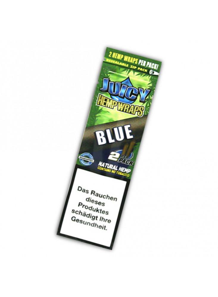Juicy Hemp Wraps Blue - 2 tabakfreie Wraps