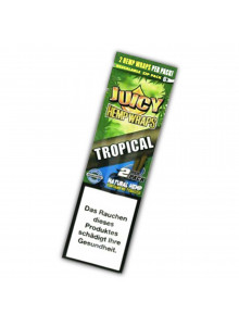 Juicy Hemp Wraps Tropical - 2 tabakfreie Wraps