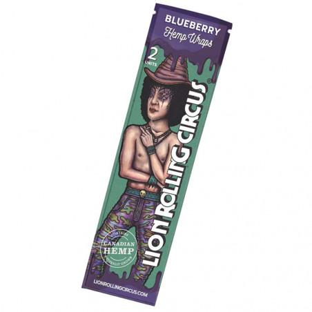 Lion Rolling Circus Blueberry Hemp Wraps mit Blaubeergeschmack
