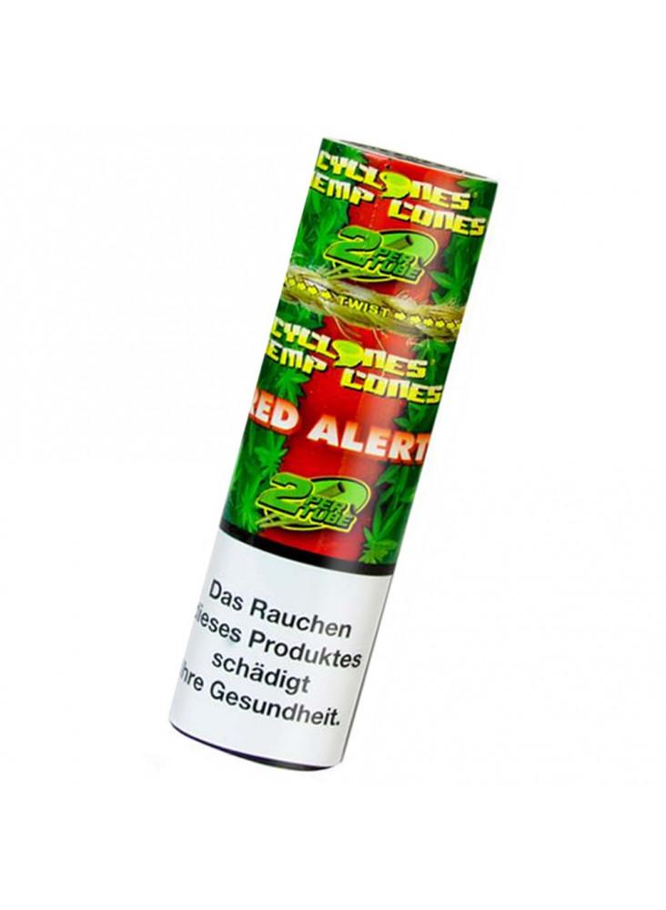 Cyclones Hemp Cones Red Alert - Zwei aromatisierte Blunts pro Packung.
