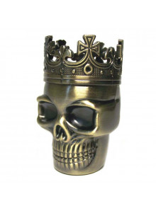 King Skull Grinder Ø35mm - Messing Optik